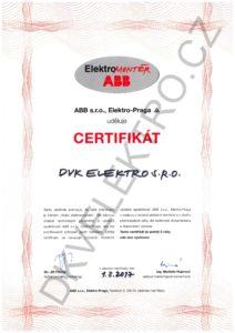 DKV ABB certifikát