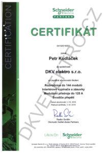 DKV Schneider-electric certifikát