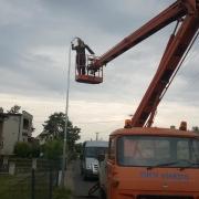 Výškové práce, montáž veřejného osvětlení